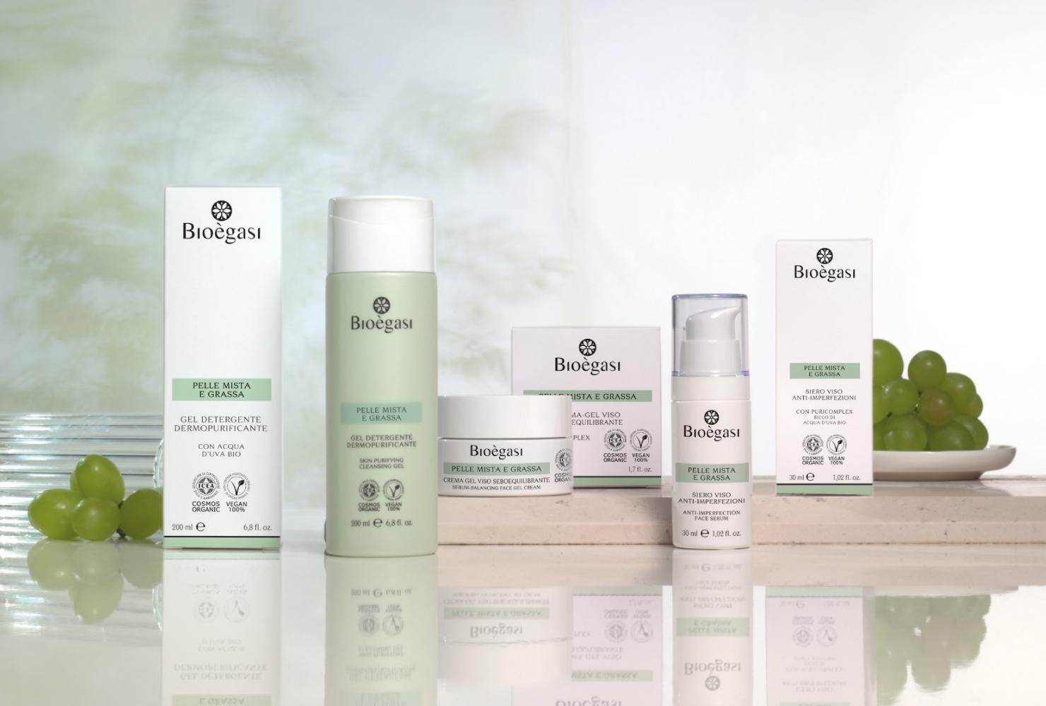 linea di prodotti per la pelle mista e grassa